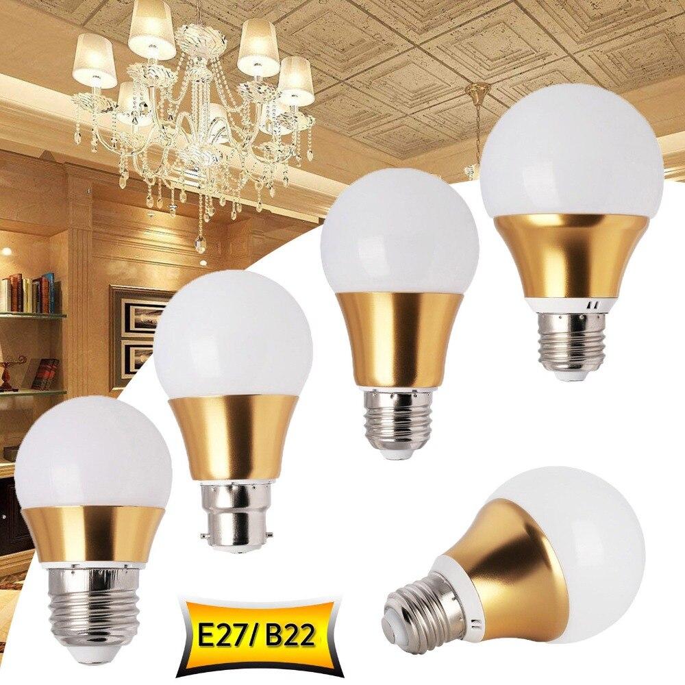 US $2.12 42% OFF|LED Lamp E27 LED bulb AC 110V 220V 230V 240V 9W 7W 5W 3W B22 Bayonet Lampada LED Spotlight Table lamp Lamps light|LED Bulbs & Tubes|