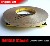 1x 20mm 55M 0 17mm 3M 300LSE PET Two Sides Sticky Tape For Mobilephone MP4 Tablet