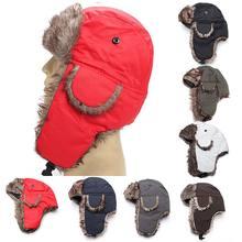 Chapeau de trappeur chaud, coupe-vent, soldat d'hiver, fausse fourrure, couvre-chef russe, Eskimo, Ushanka, pour hommes et femmes adultes