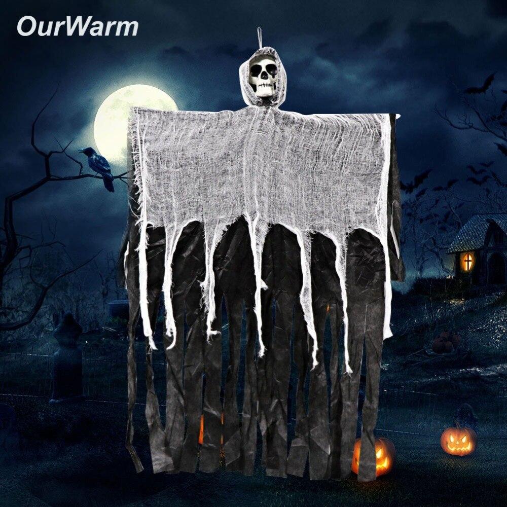 OurWarm Halloween Fantasma Esqueleto Facial Horror Adereços Fontes do Evento da Festa de Halloween Decoração Da Casa Assombrada Assustador Pendurado Escape