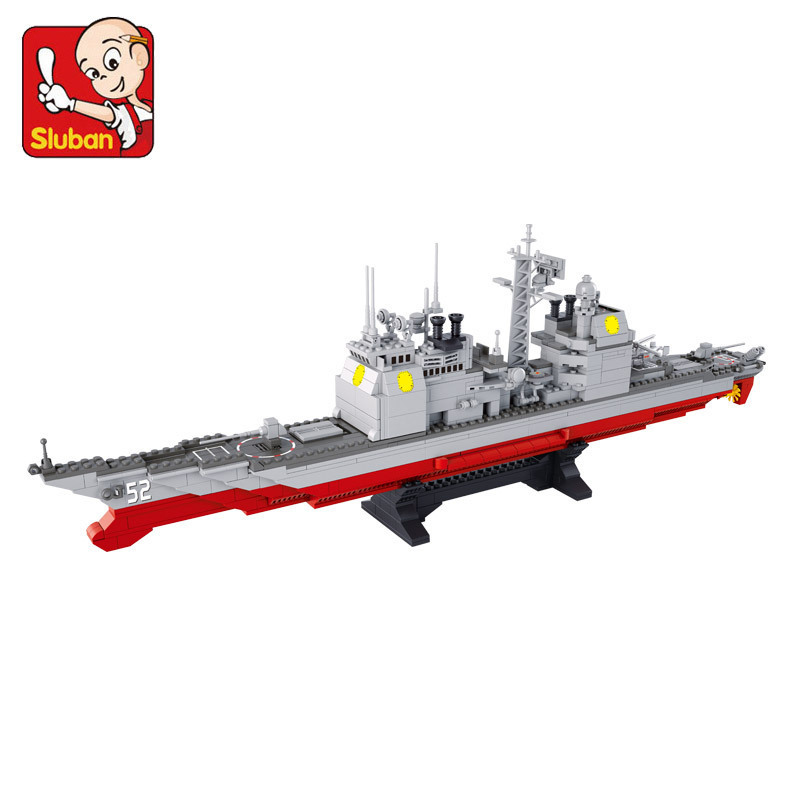 model building kits compatible with lego city warship 660 3D blocks Educational model & building toys hobbies for children