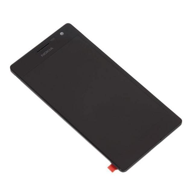 Exibir montagem com tela sensível ao toque e do painel frontal para nokia lumia 735, preto