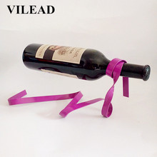 VILEAD Magic Suspended Ribbon Wine Rack Wine Stand Novelty Iron Rack Bottle Holder Stand Bar Wedding Whiskey Stone Silk Rope