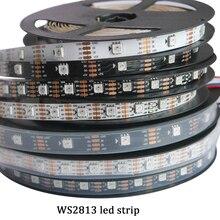 Новые светодио дный 5 В WS2813 1 М/4 м/5 м 30/60 светодио дный s/m Smart светодиодная Пиксельная лампа черный/белый PCB WS2813 IC IP30/IP67 Ambilight светодио дный полосы света