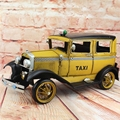 1931 Retro Ford Classic Taxi Car Model 100% Handmade Old Iron Sheet Model Rolls Royce 1:12 Retro Metal Dectoration Pub CAFE