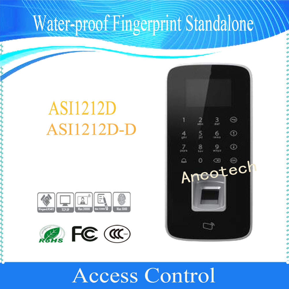 Dahua Free Shipping Access Control Touch Keyboard LCD Display Waterproof Fingerprint Standalone Support Card DHI-ASI1212D-D