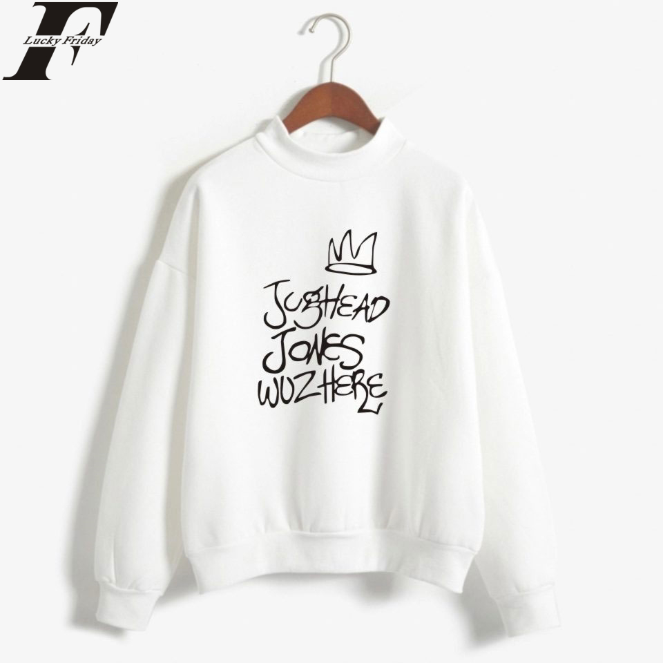 Fashion LUCKYFRIDAYF Riverdale Turtlenecks Sweatshirts Hoodies WomenMan Casual Style Collage Print Hoodies Clothes Plus Size
