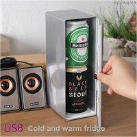 Usb البسيطة التبريد التدفئة التبريد الباردة والساخنة 5 فولت صغير مستحضرات 2.5l المحمولة الثلاجة الثلاجة خزانة خزانة