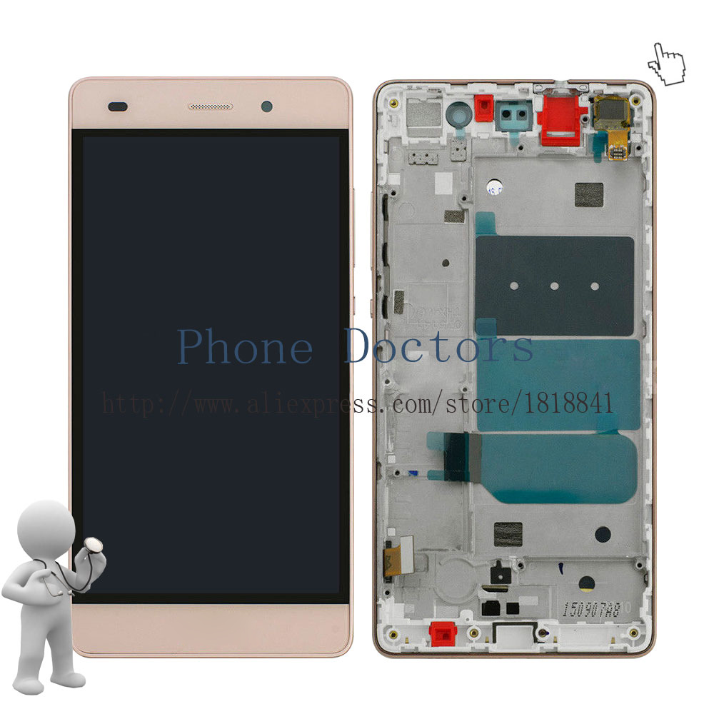 imágenes para Pantalla LCD Full + Touch Pantalla Digitalizador De Vidrio + Marco de La Asamblea Para Huawei P8 Lite ALE-L04 L21 TL00 L23 CL00 L02 UL00; oro