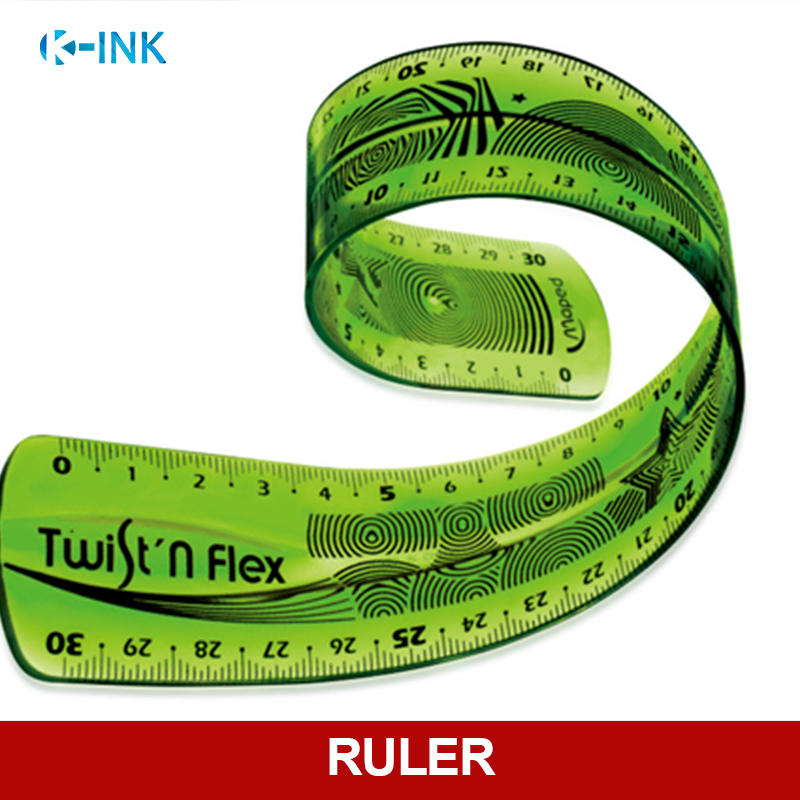 Premium Quality Flexible Straight Ruler , Transparent Folding Soft Ruler 30cm (12 Inch) Measuring Length