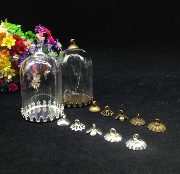 300 sätze/los 38*25mm klar diy glaskugel crown fach 8mm perlen kappe set glasflasche fläschchen anhänger mode halskette schmuck geschenk-in Anhänger aus Schmuck und Accessoires bei  Gruppe 1
