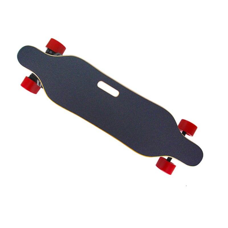 Planche à roulettes électrique Longboard t-ombre LED ceintures lumineuses double moteurs télécommande sans fil Scooters électriques 300 lb charge maximale