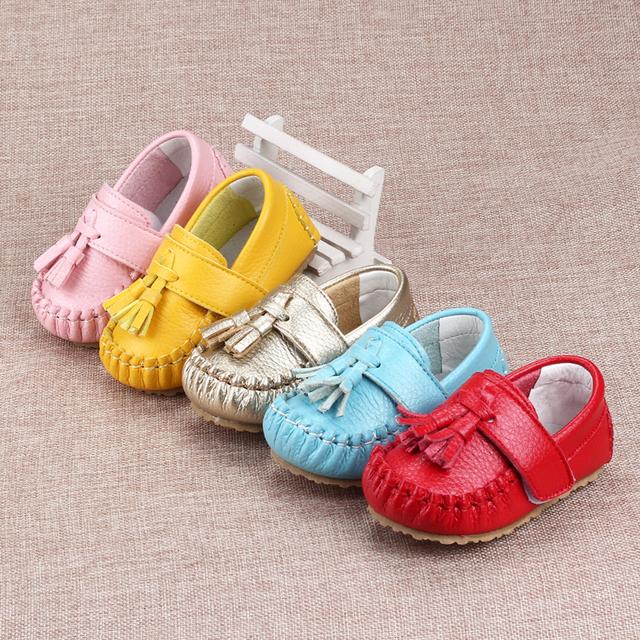 Primer Caminante del bebé Zapatos Niño Mocasines Sapato Infantil Menina Zapatitos de Bebé Para Niñas Primeros Botas Fringe Artículos 503085
