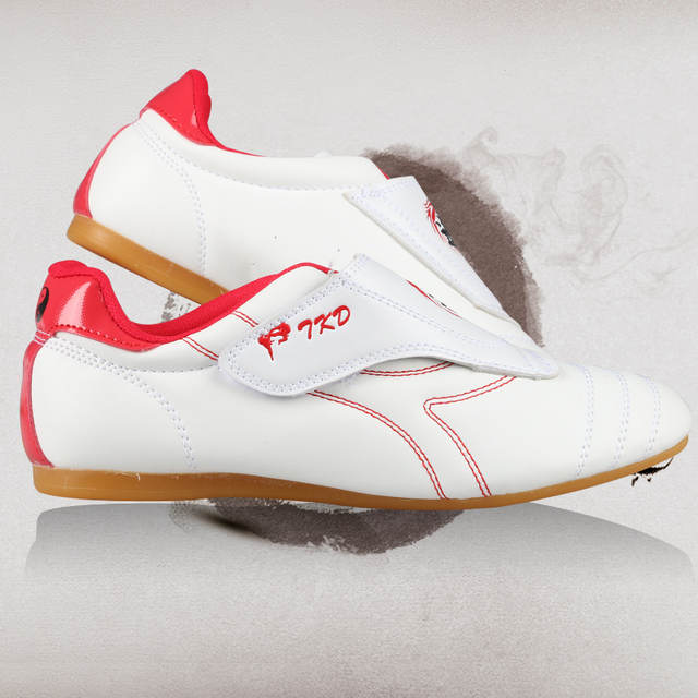 82b1afbeaf2568 placeholder Martial Arts Shoes Cheap taekwondo shoes male Female kid Adult  WTF PU leather TKD karate Breathable