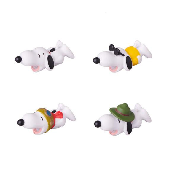 4pcs Cartoon Animal <font><b>Dog</b></font> <font><b>Cable</b></font> Winder <font><b>protector</b></font> Data <font><b>Cable</b></font> Line <font><b>Cable</b></font> Winder Protective For iphone Samsung Android Cell Phone image