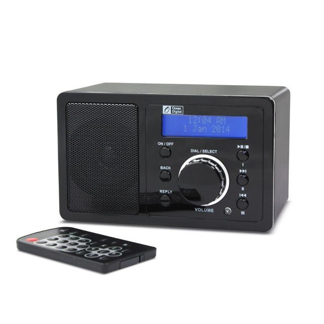 bedroom speakers. Ocean Digital Bedroom Internet Radios Clock with Sleep Timer Remote Control  Powerful Speaker