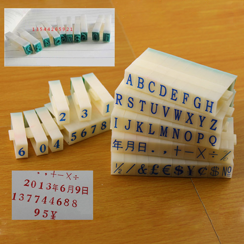 0 71 30 De Descuento útil Sello De Símbolo Digital Número Letra Diario Foto Ablum Tarjeta De Invitación Alfabeto Combinación Tinta Sello Papel Para