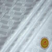 African Original Bazin Riche Fabric Similar to Getzners 2020 New White Guinea Brocade Soft 100% Cotton Jacquard Feitex Tissu