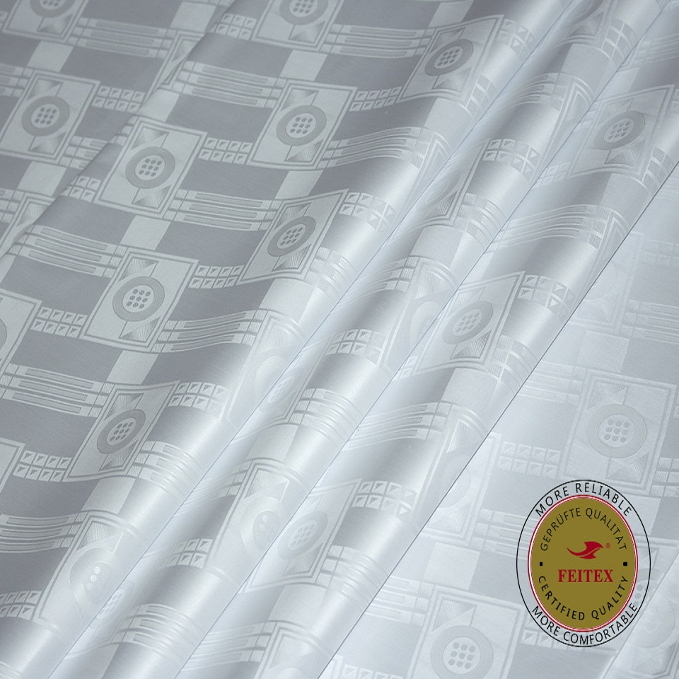 Similar to Getzner Quality Bazin Riche Fabric White Color Guinea Brocade Soft 100% Cotton with Lasting Fragrance FEITEXSimilar to Getzner Quality Bazin Riche Fabric White Color Guinea Brocade Soft 100% Cotton with Lasting Fragrance FEITEX