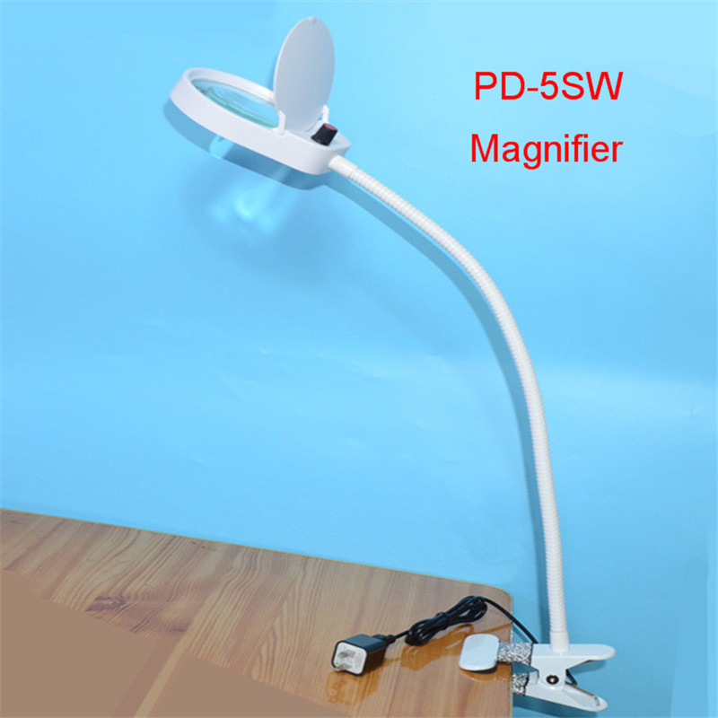 PD-5SW Desktop magnifier 3X/10x magnifying glass table machine LED Lamp for Teaching expriments new universal desktop magnifier usb with led light 10x for maintenance reading micro engraving magnifying glass
