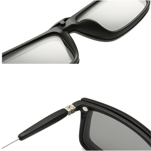 Image 3 - 4Pcs Unbreakable Clip on Sunglasses Polarized Magnetic lens Alloy Plastic TR90 Flexible Frame for Night Driving