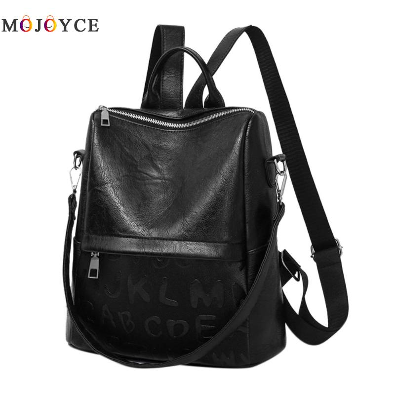 Casual Soft Pu Leather Women Backpack Teenage Girls School Backpack Shoulder Travel Bag Mochilas Mujer