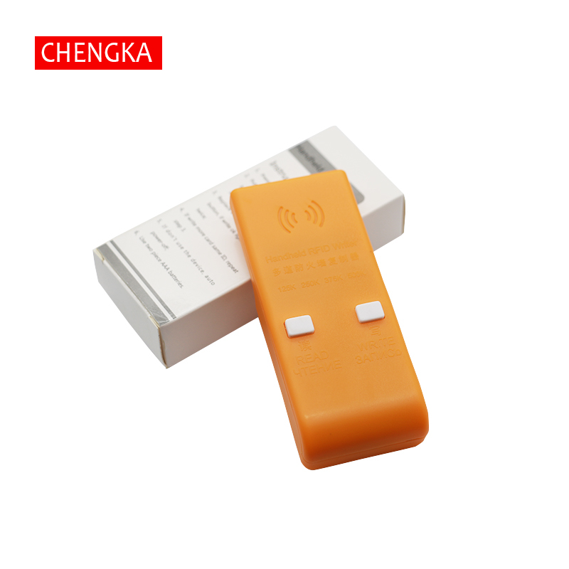 Handheld 125/250/375/500KHz RFID ID  Card Writer/Copier Duplicator Rewritable ID Keyfobs Tags Card Programmer Reader