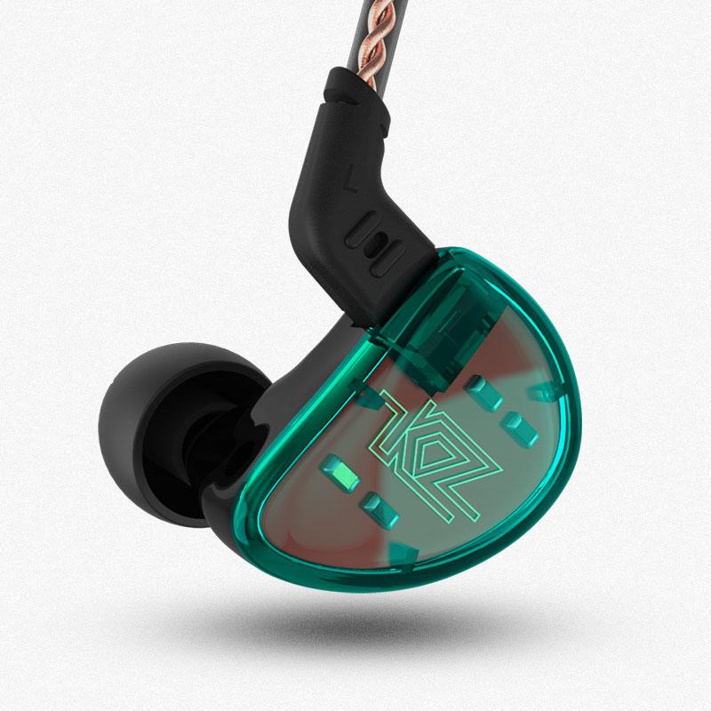 KZ AS10 5BA HIFI stéréo dans l'oreille écouteur casque 5 Armature équilibrée pilote moniteur écouteur écouteurs avec 0.75mm 2 broches câble BA10 - 4