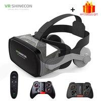 VR Shinecon G07E Casque Headset Gerceklik Virtual Reality Glasses 3D Helmet Goggles 3 D Google Cardboard For Phone Smartphone