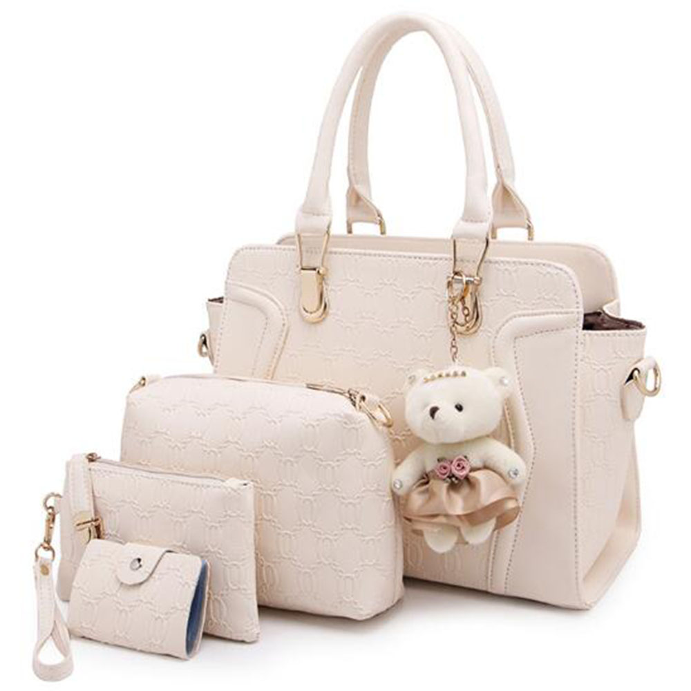 цены SFG HOUSE 5 Pcs Composite Bag Women Handbag PU Leather Casual Cross Body Bags Lady Shoulder Bags Totes Bags 8 Colors
