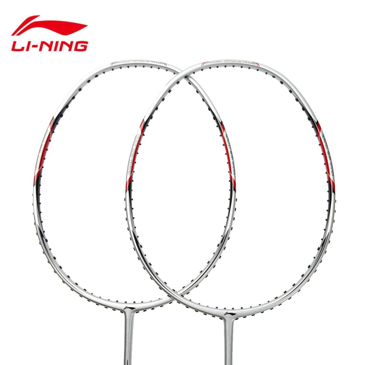 1 paire Doublure Badminton Raquettes Super Léger En Fiber De Carbone Pleine Boule Contrôle Type Li-ning AYPG354 Avec Cordage Service l784OLD