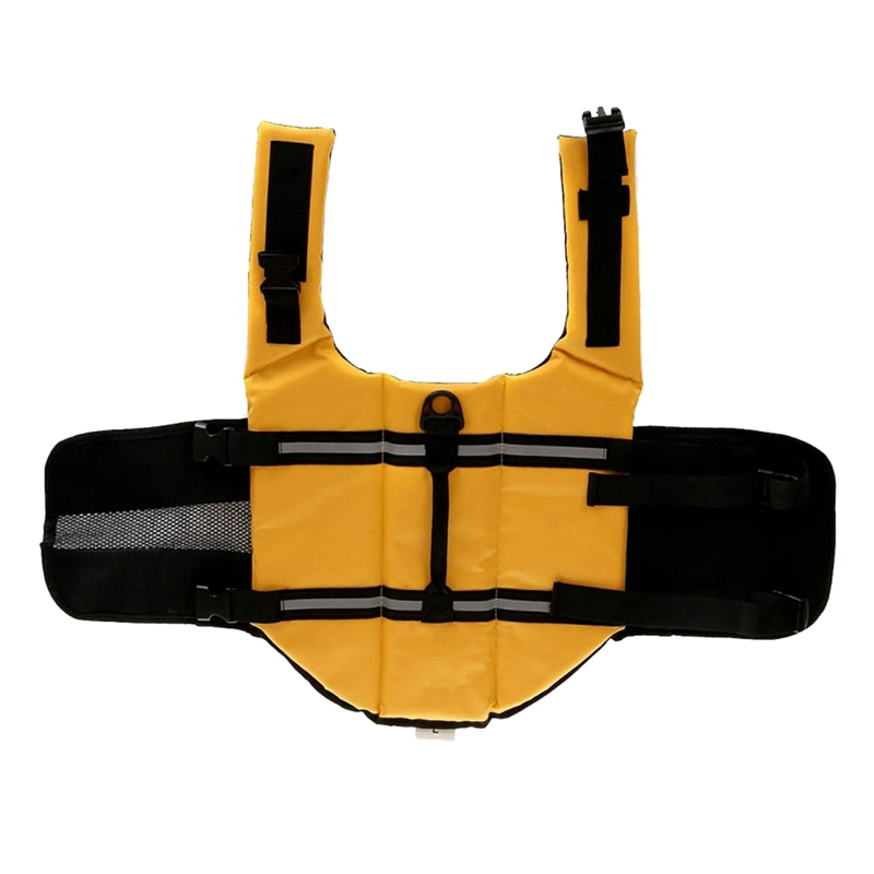 yellow flotation vest for dogs