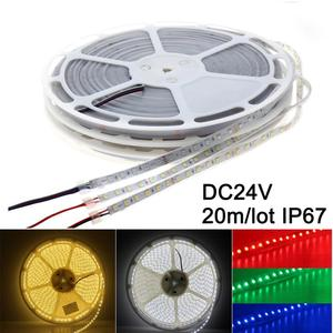 Led Strip 5050 24V 20m IP67 Waterproof 1200Led RGB Led Light Strip White Warm White Ambilight Flexible Tape Ledstrip Living Room