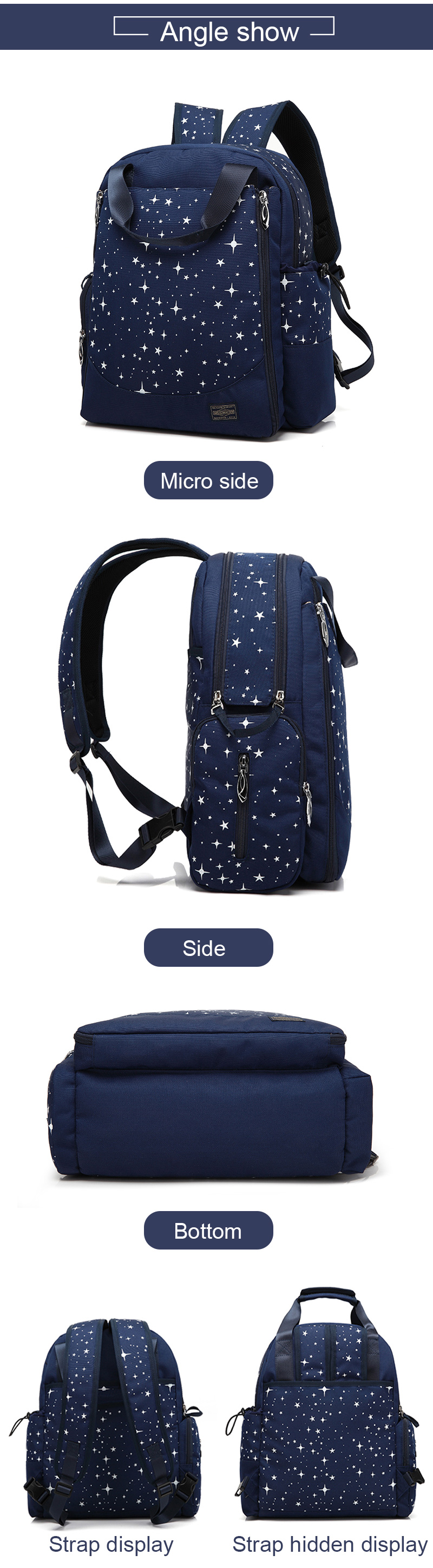 a553352b94ee7 ... Diaper Bag Waterproof Mummy Maternity Travel Backpack Nappy Changing  Bags For Baby Care Organizer Fashion Wet ...