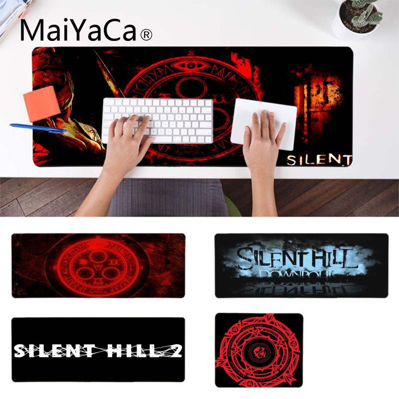 MaiYaCa Non Slip PC silent hill DIY Design Pattern Game mousepad Anti-Slip Durable Silicone Computermats image
