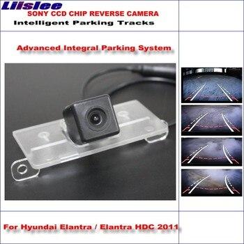 Liislee Backup Rear Reverse Camera For Hyundai Elantra / Elantra HDC 2011 / HD 860 Pixels Intelligent Parking Tracks