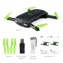 DHD D5 Selfie Drone With 0.3mp Camera Foldable Pocket Rc Drones RC Helicopter Fpv Quadcopter Mini Dron VS JJRC H37 523 jy018