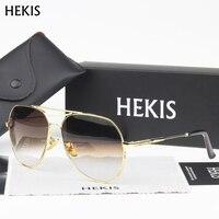 HEKIS Brand Best Men S Sunglasses Mirror Lens Big Oversize Eyewear Accessories Sun Glasses For Men