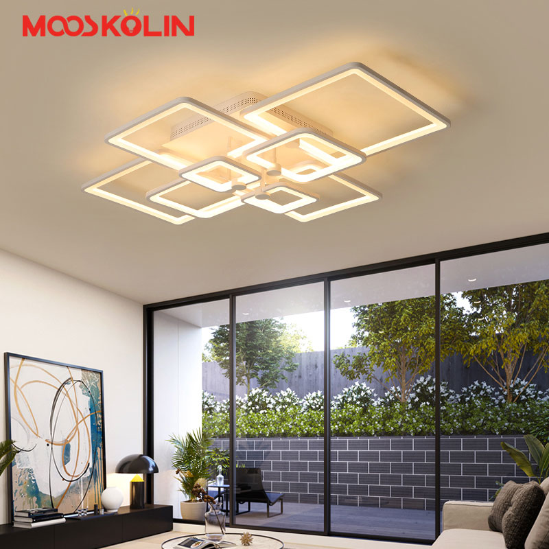 New Acrylic Modern Led Chandelier For Living room Bedroom Dining room Indoor Home Decoration Chandelier ceiling Fixtures new modern led chandeliers for living room bedroom dining room acrylic iron body indoor home chandelier lamp lighting fixtures