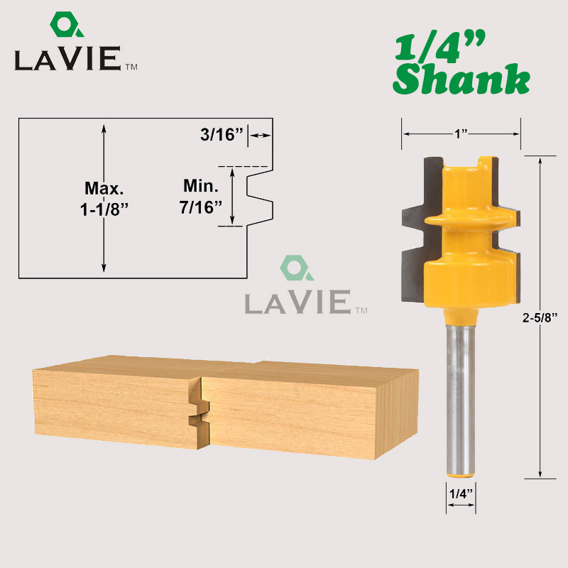 LA VIE 1pc 1/4 6.35mm Shank Beveling Knife Tenon Trimmer Milling Cutter Mini Tongue Groove Router Bit For Woodworking MC01024