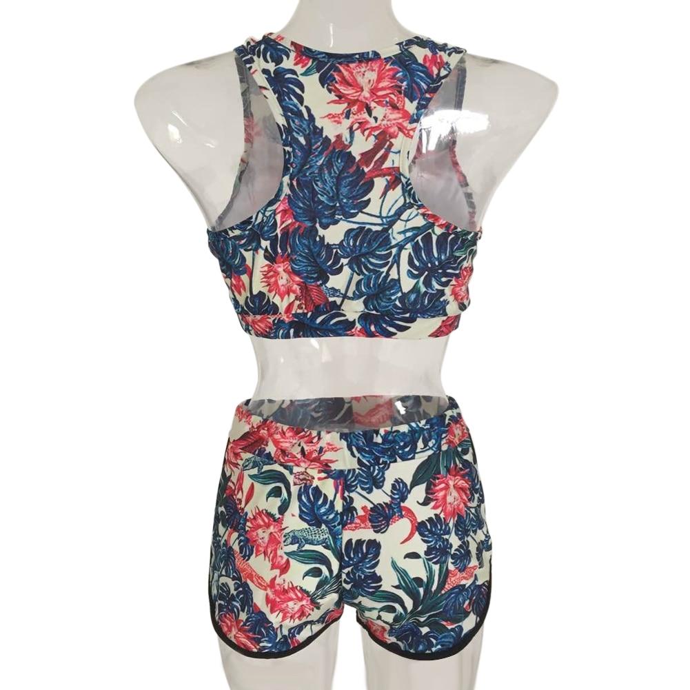 Bikini Swimwear Women Floral Printed Bikini Set Padded high waist Beachwear Bathing Suit 2