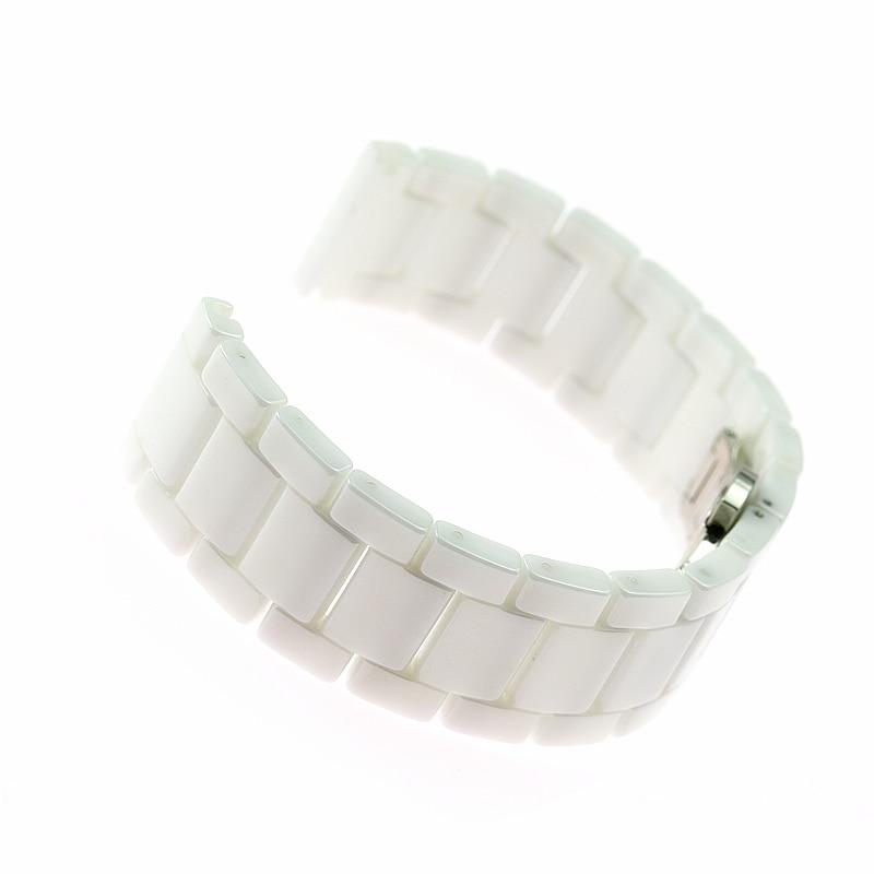 Ceramic strap 20 22 mm chain bracelet strap for xiaomi Amazfit Samsung Gear s3 S2 strap Galaxy Watch 46 42mm sport watchbands