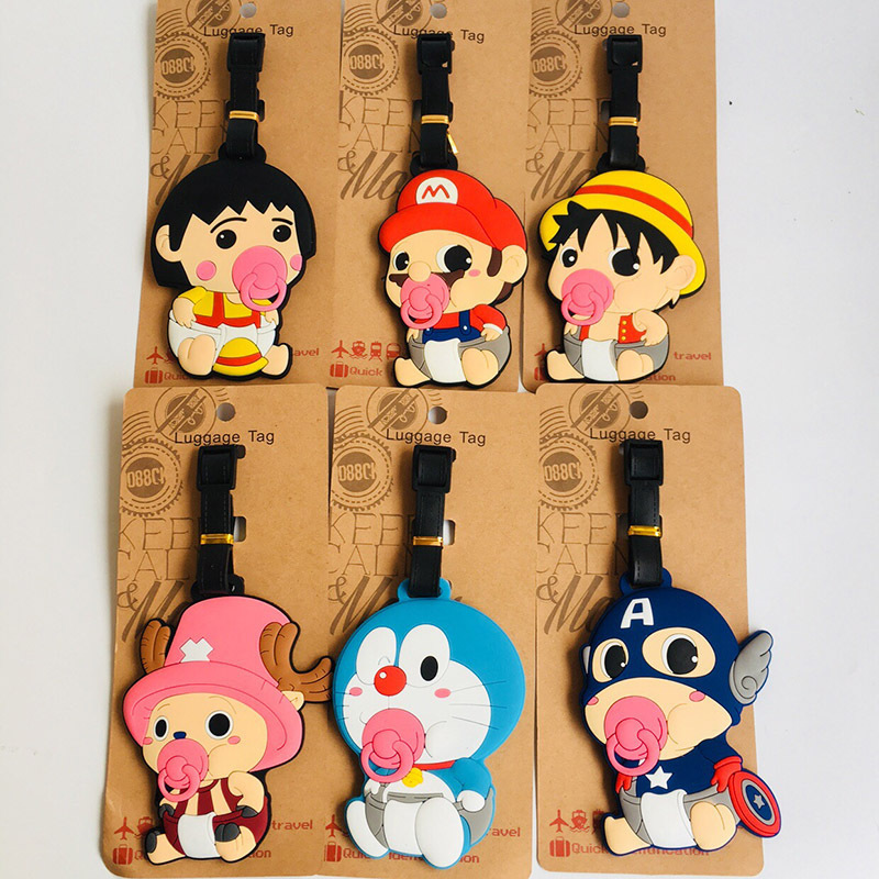 IVYYE Baby One Piece Doraemon Anime Travel Accessories Luggage Tag Suitcase ID Address Portable Tags Holder Baggage Label New