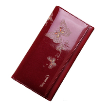 Women purse coin Clutch credit card bag woman butterfly pattern pu leather long wallet women print cartoon