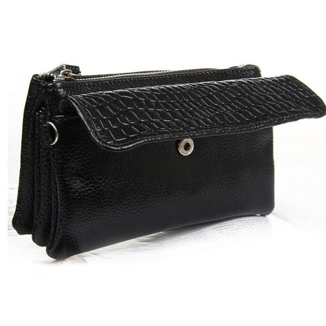 Clutch wristlet bag Genuine leather crocodile 2017