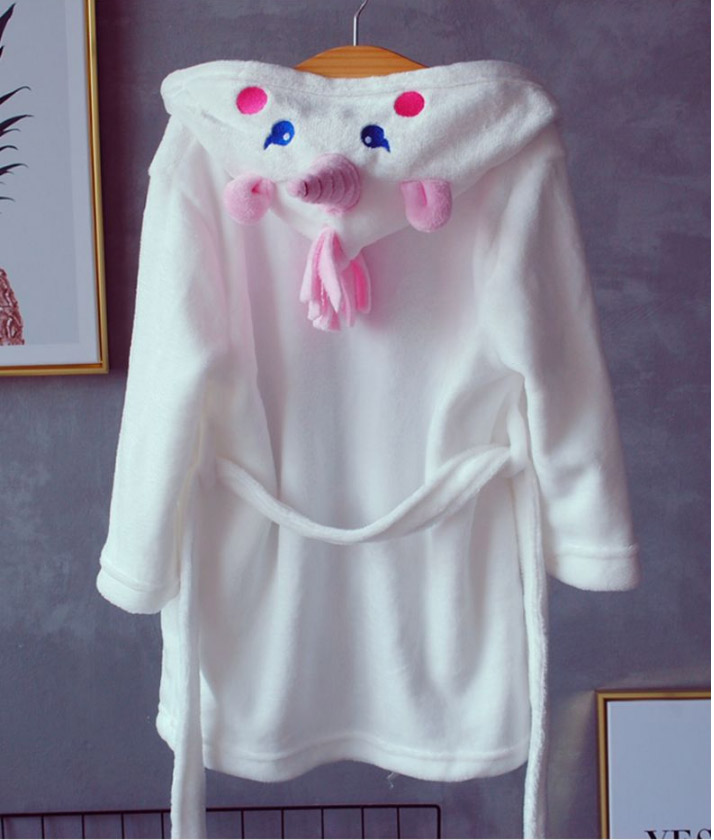 Bathrobes for Girls Unicorn Nightgown Baby Boys Velvet Robes Towel Kids Cartoon Pajamas Children Pokemon Bath Robe Nightgown