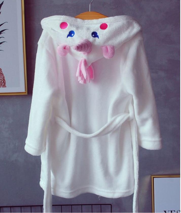 Bathrobes for Girls Unicorn Nightgown Baby Boys Velvet Robes Towel Kids Cartoon Pajamas Children Pokemon Bath Robe Nightgown
