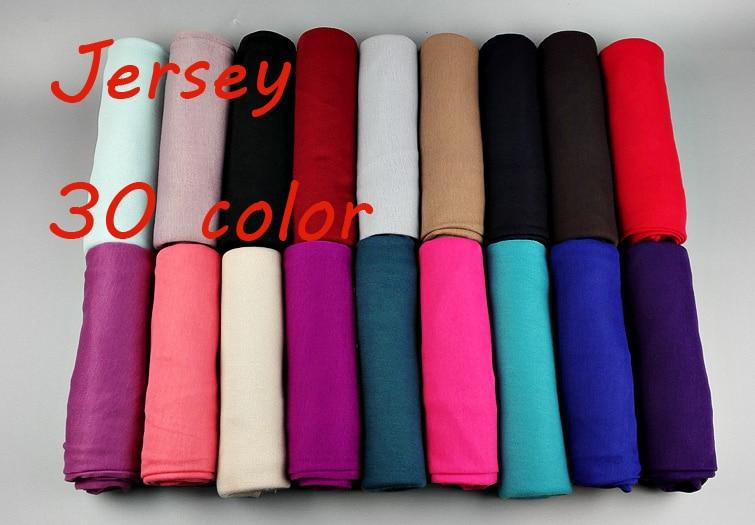 30 color High quality jersey   scarf   cotton plain elasticity shawls maxi hijab long muslim head   wrap   long   scarves  /  scarf   10pcs/lot