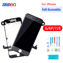 Full Set Assembly LCD Display Digitizer For iPhone 6 6S 7 8 AAA Quality Touch Screen i Phone S No Dead Pixel Black White