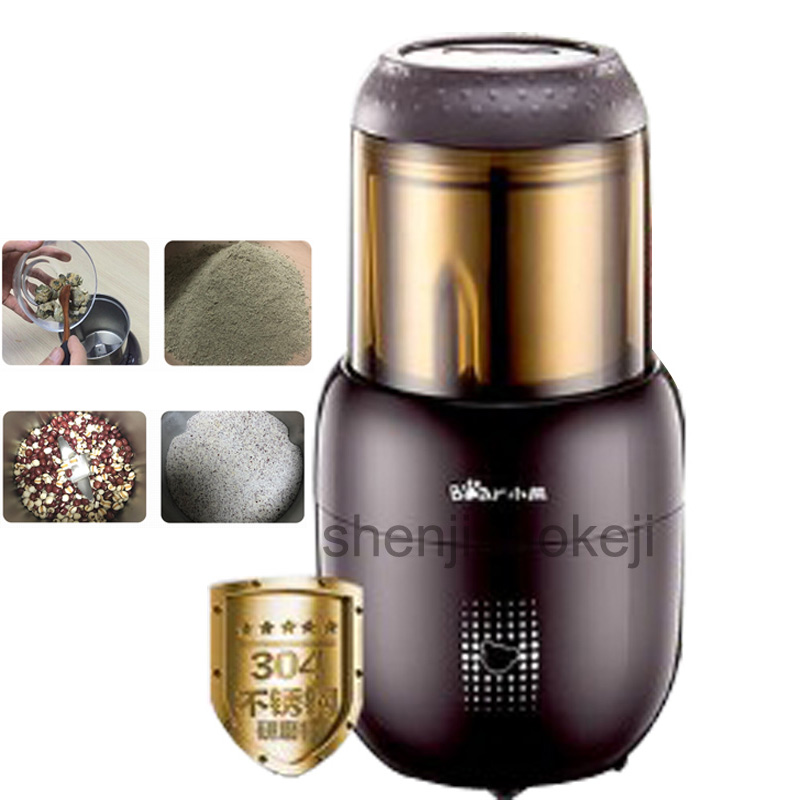 household electric grinding machine FSJ-A03D1 Small pulverizer superfine powder machine Grains Sesame grinder 300W 1pc household stainless steel medicinal powder broken machine small superfine grinder whole grains bean milling blender